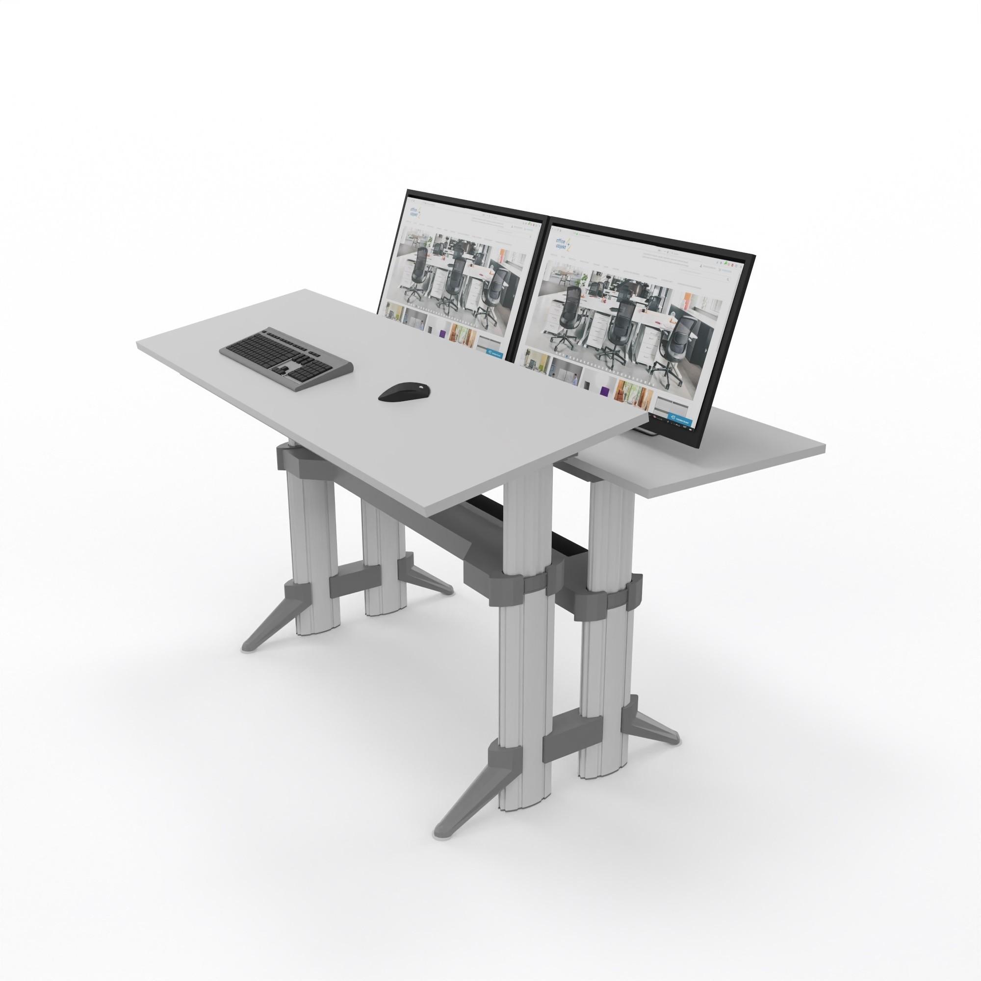 """Leuwico """"Go2"""" rechteckige CAD-Tische, höhenverstellbar (Steh/Sitz)"""