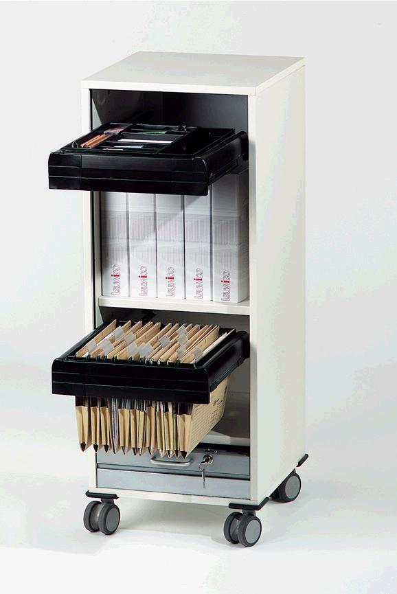 """Leuwico """"desk-add"""" mit Vertikalrollladen, 43 cm breit"""