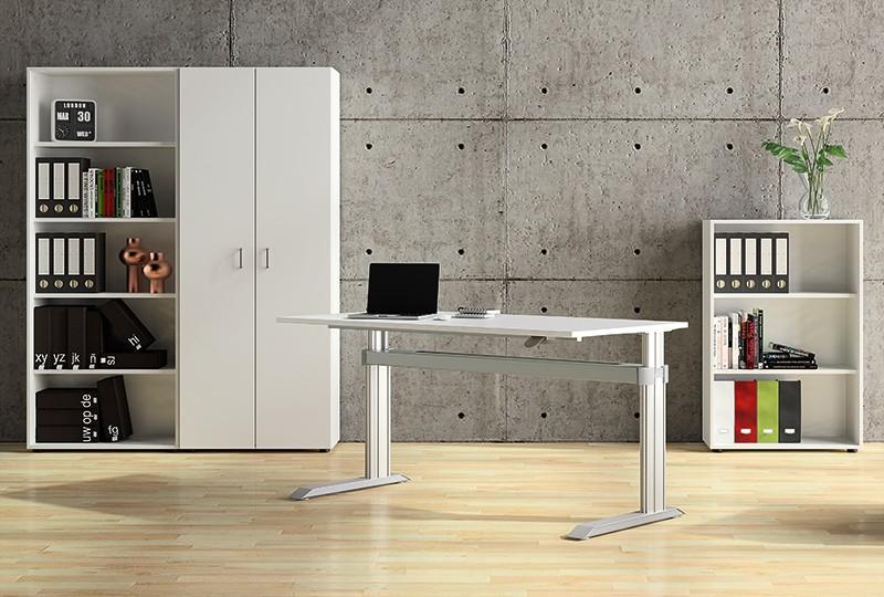 """Leuwico """"Go2-Basic"""" rechteckige Tische, höhenverstellbar (Steh/Sitz)"""