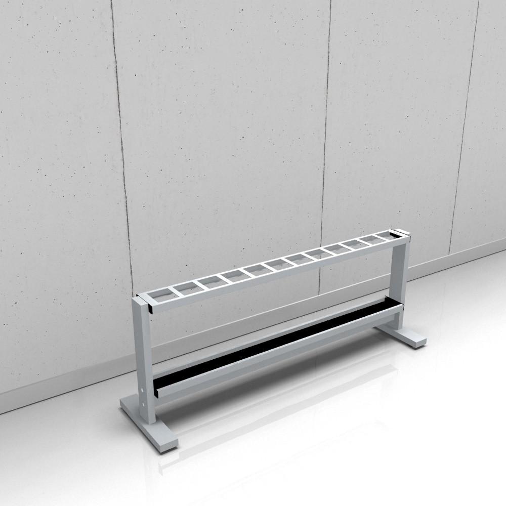 rontec Reihenschirmständer einreihig, Modell 8310, mit eckigen Profilen