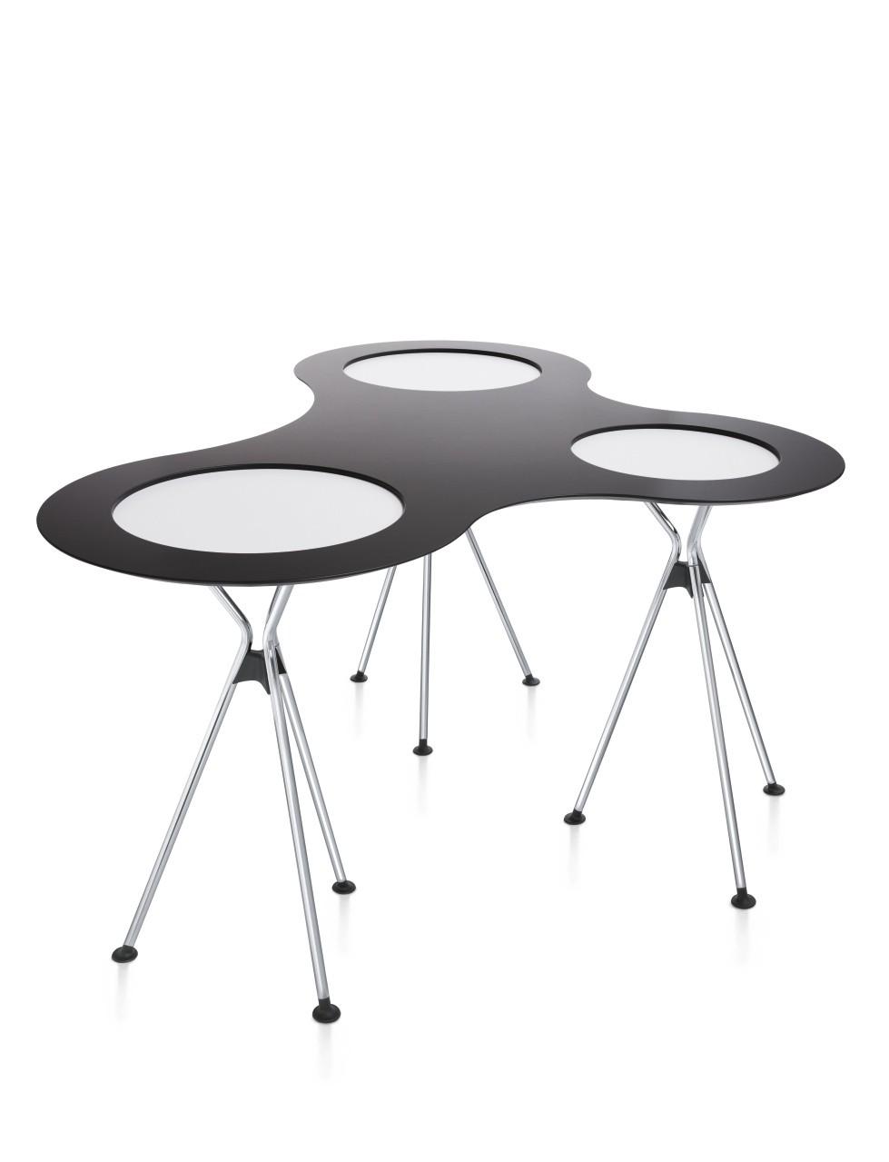 Sedus Verbindungsplatte Over Easy in dunkelgrau für 3 Tische