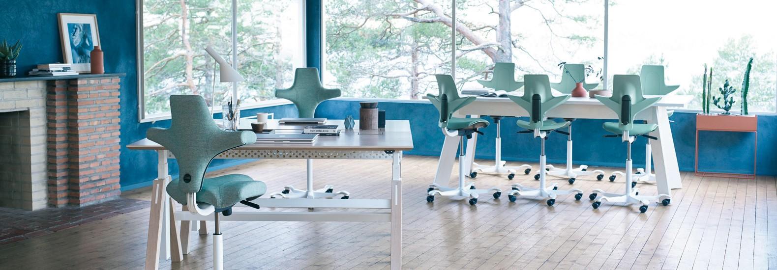 Konfigurieren Sie Capisco und Capisco Puls von HAG bei office & objekt 42 um Ihr Büro perfekt auf Sie anzupassen!
