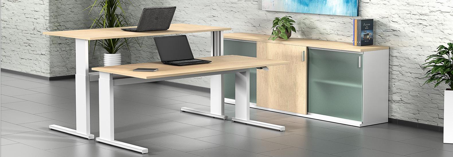 Leuwico iMove S bei oo42.de! Als Premiumhersteller für ergonomische Arbeitsplätze liefert LEUWICO seit beinahe 100 Jahren hochwertige, höhenverstellbare Schreibtische und Büromöbel.