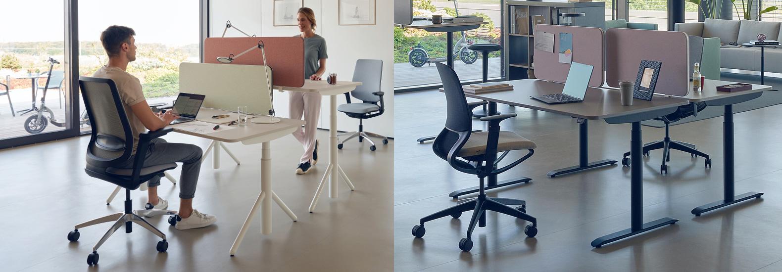 Sedus se:lab e-desk und se:lab a-desk. Konfigurieren Sie Ihren Tisch von Sedus Systems bei office & objekt 42 für Ihr individuelles Büro.